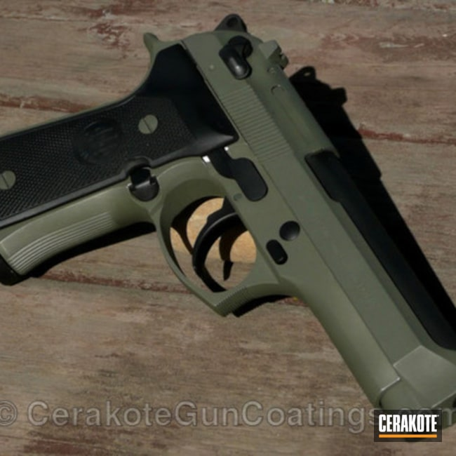 Cerakoted: Graphite Black H-146,Forest Green H-248,1911,Handguns