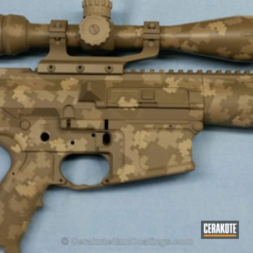 Cerakoted H-265 Flat Dark Earth With H-203 Mcmillan Tan And H-199 Desert Sand