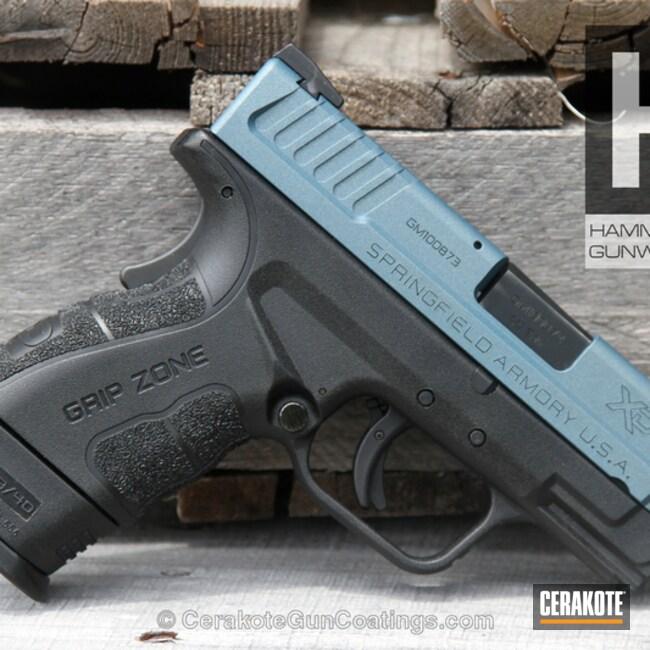 Cerakoted: Springfield Armory,Handguns,Blue Titanium H-185