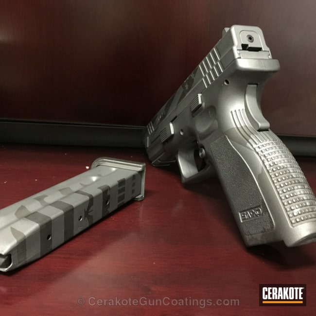 Cerakoted: Sniper Grey H-234,Graphite Black H-146,Springfield Armory,Handguns,Sniper Grey