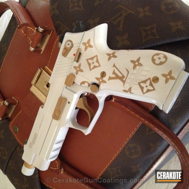 Smaller version of the 1st project picture. Sig Sauer, Ladies, Bright White H-140Q, Gold H-122Q