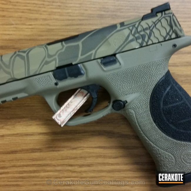 "Thumbnail image for project ""H-235 Coyote Tan with H-146 Graphite Black and H-240 Mil Spec O.D. Green"""