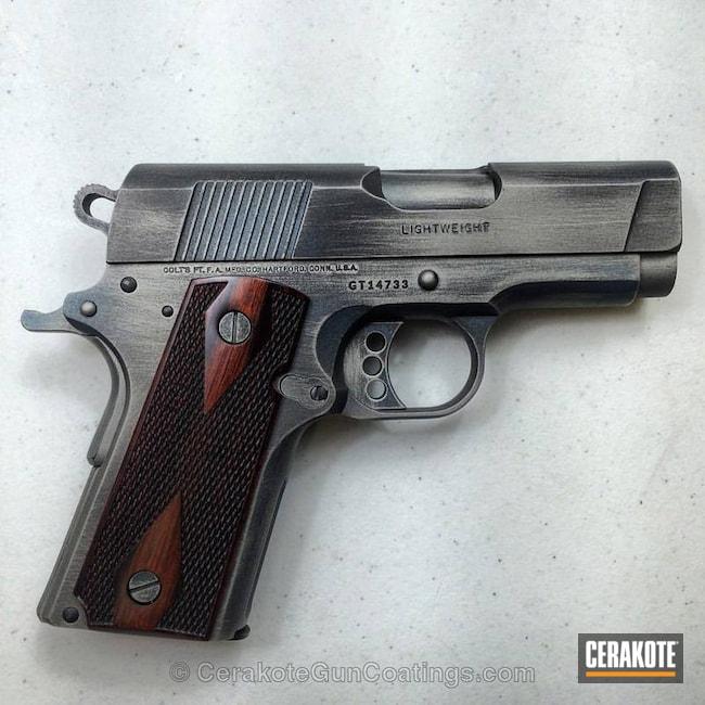 Cerakoted: Graphite Black H-146,Colt,Titanium H-170,1911,Blue Titanium H-185