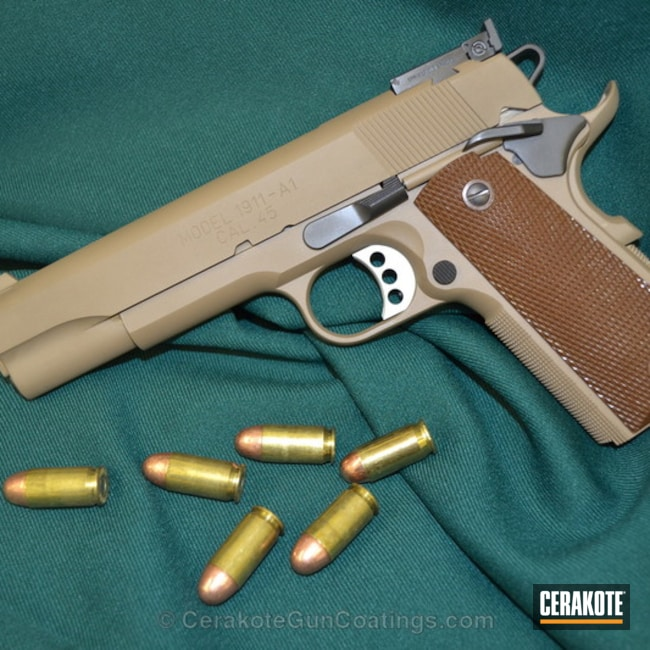 Cerakoted: BARRETT® BROWN H-269,Springfield Armory,1911,Handguns