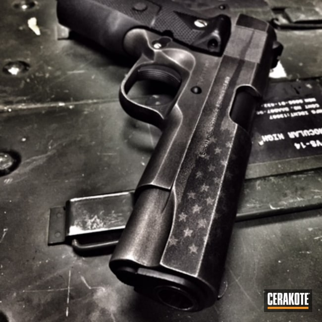 Cerakoted C-129 Stainless With C-192 Armor Black