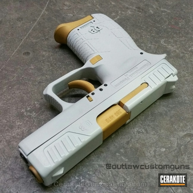 Cerakoted H-242 Hidden White With H-122 Gold