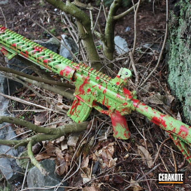H-168 Zombie Green with H-216 Smith & Wesson Red