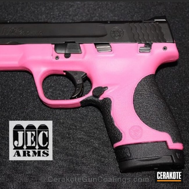 H-141 Prison Pink with H-146 Graphite Black