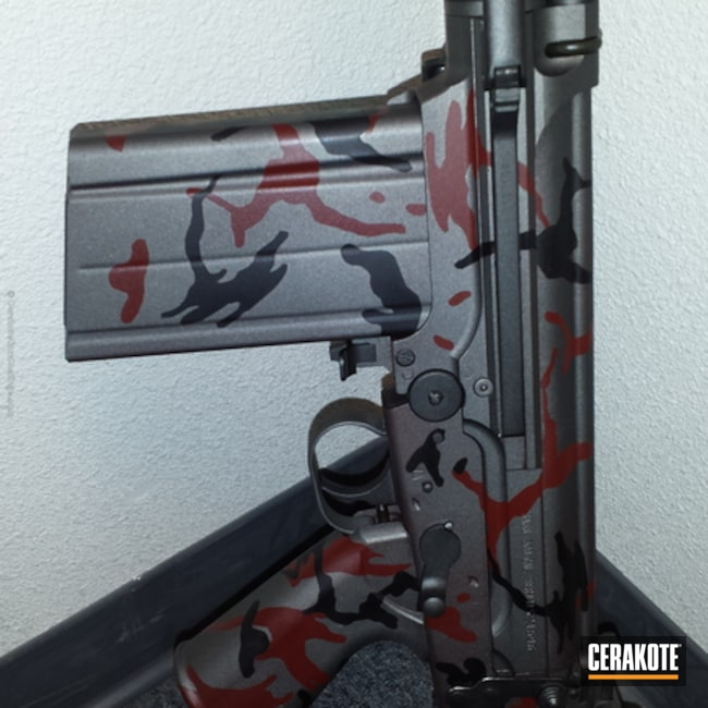 "Thumbnail image for project ""H-146 Graphite Black with H-216 Smith & Wesson Red and H-237 Tungsten"""