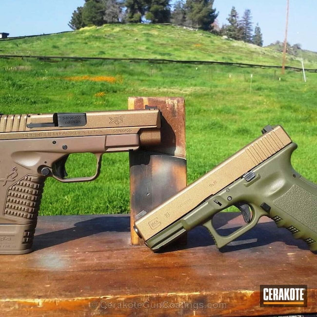 C-102 Graphite Black with C-241 O.D. Green with C-148 Burnt Bronze with C-214 Federal Brown and C-246 Flat Dark Earth