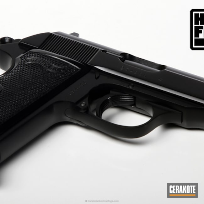 Smaller version of the 1st project picture. Graphite Black H-146Q, Walther, Handgun, High Gloss Ceramic Clear