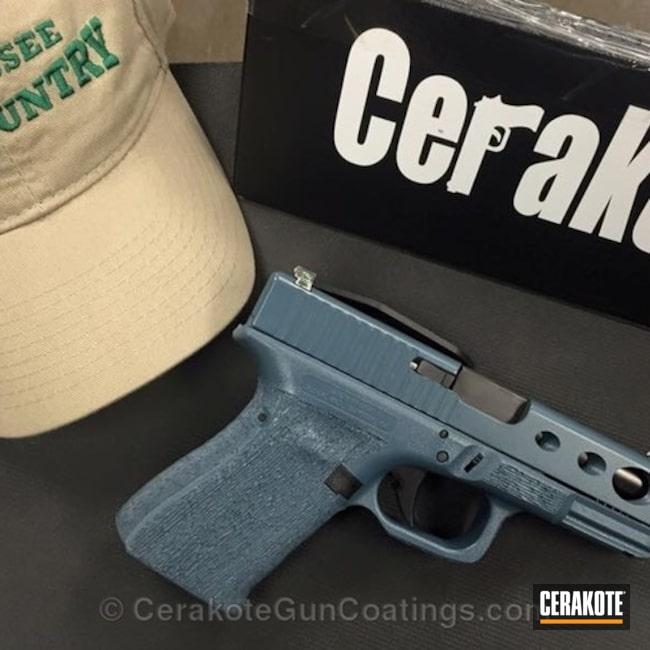 Cerakoted: Glock,Jesse James Civil Defense Blue H-401