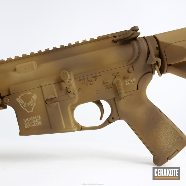 H-7504M Matte Brown with H-33446 Federal Standard Sabre Sand and H-235 Coyote Tan