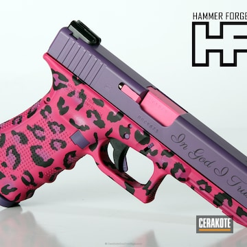 Cerakoted H-146 Graphite Black With H-217 Bright Purple With H-141 Prison Pink And H-224 Sig Pink