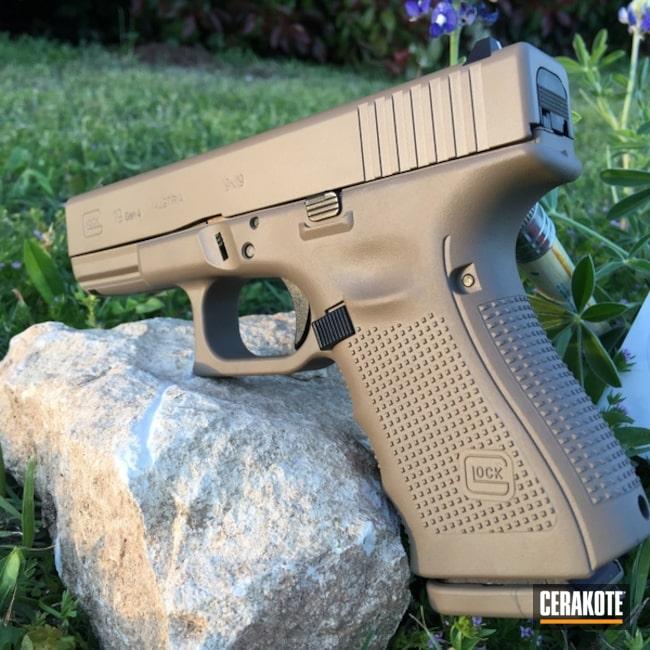 Cerakoted: Glock 19,Gen II Flat Dark Earth HIR-265,Glock,Flat Dark Earth H-265