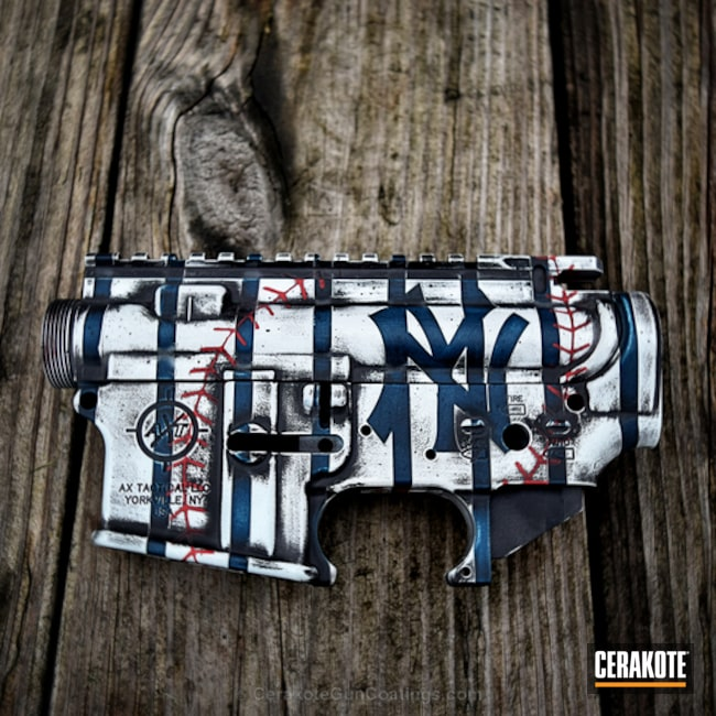 H-216 Smith & Wesson Red with H-146 Graphite Black, H-140 Bright White, H-169 Sky Blue and H-210 Sig Dark Grey