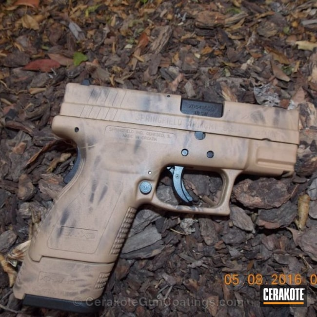 Cerakoted Hir-235 Gen Ii Coyote Tan With Hir-229 Gen Ii Adf Light Brown And Hir-146 Gen Ii Graphite Black