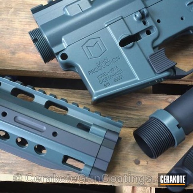 Cerakoted: Jesse James Cold War Grey H-402,MAGPUL® STEALTH GREY H-188,MP15,Man Production,Gun Parts