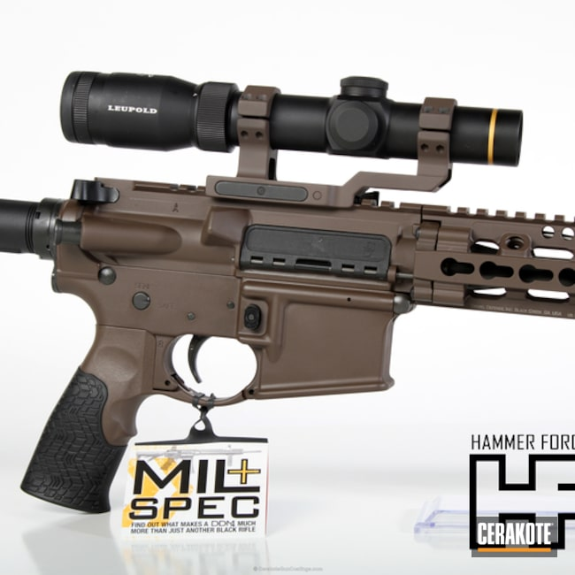 Cerakoted: Daniel Defense,Scope Mount,Tactical Rifle,Color Match,Daniel Defense DDM4,Chocolate Brown H-258