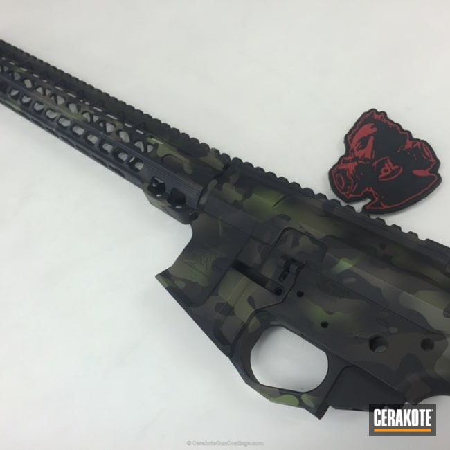 H-146 Graphite Black with H-232 MagPul O.D. Green and H-258 Chocolate Brown