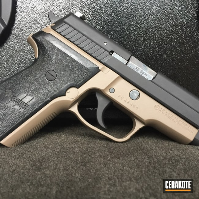 Cerakoted: P229,Armor Black H-190,Pistol,Sig Sauer,Flat Dark Earth H-265,Handguns