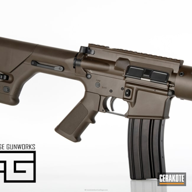 Cerakoted H-146 Graphite Black With H-259 Barrett Bronze