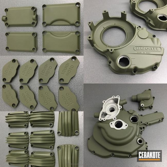 Cerakoted: Sniper Green H-229,Ducati Race Bike,ClassicTT