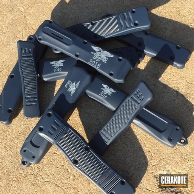 Cerakoted: KEL-TEC® NAVY BLUE H-127,Knives