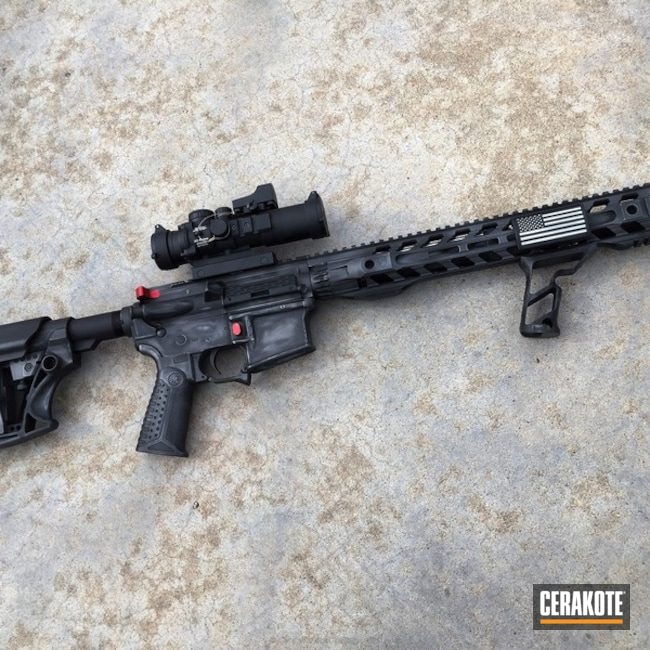 Cerakoted: Sniper Grey H-234,Graphite Black H-146,Luth-AR,Tactical Rifle,Tactical Grey H-227