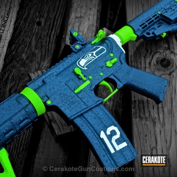 Cerakoted H-169 Sky Blue With H-168 Zombie Green And H-213 Battleship Grey