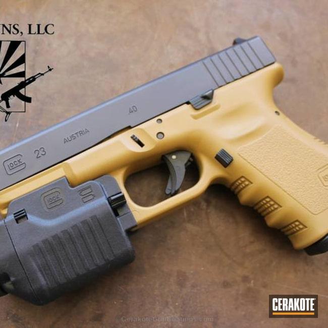 Cerakoted: Ral 8000 H-8000,Kilo,Pistol,Glock,Glock 23,Handguns,Kilo Guns