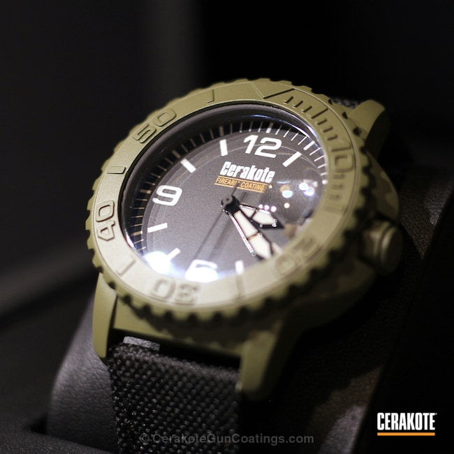 Cerakoted: Wearables,Undone,More Than Guns,Noveske Bazooka Green H-189,Watches