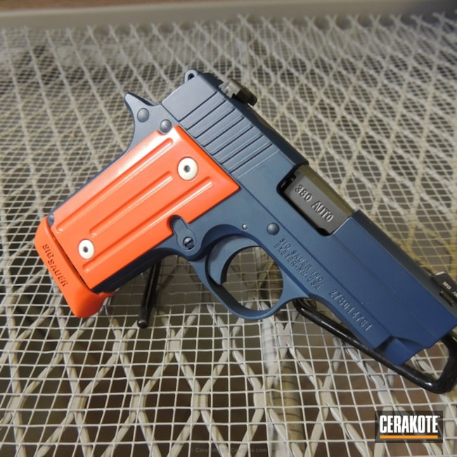 H-127 Kel-Tec Navy Blue with H-243 Safety Orange and H-140 Bright White