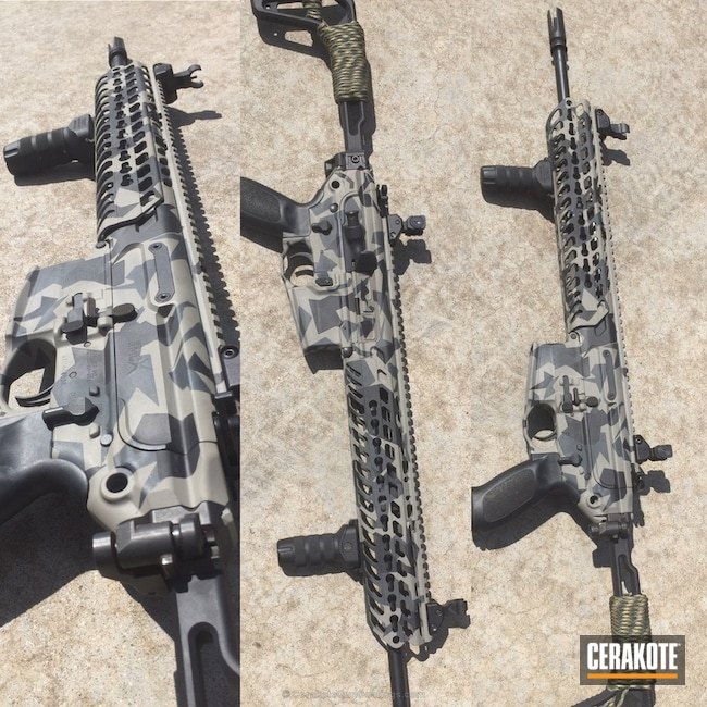 Cerakoted: Sniper Grey H-234,Shapes,MCX,ICON Grey H-125,Graphite Black H-146,Tactical Rifle,Sig Sauer