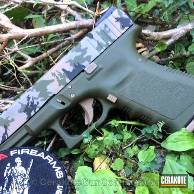 H-236 O.D. Green with H-267 MagPul Flat Dark Earth and H-190 Armor Black