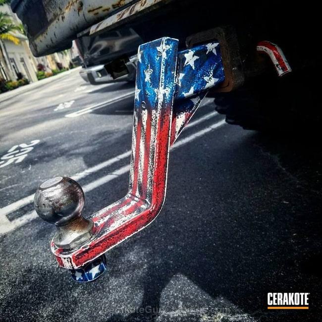 Cerakoted: Trailer,NRA Blue H-171,Snow White H-136,USMC Red H-167,American Flag,More Than Guns,Hitch,RC Truck,Custom Blend