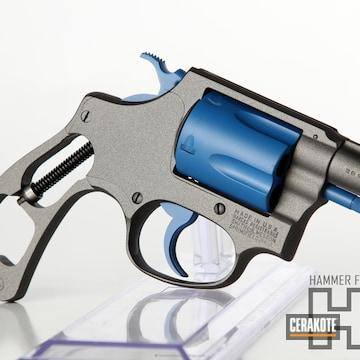 Cerakoted H-237 Tungsten With H-220 Ridgeway Blue