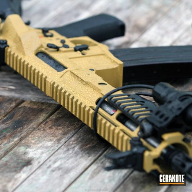Cerakoted: Rifle,Lefty,Custom SBR,Ral 8000 H-8000,Tactical Rifle,SBR,Rain,AR-15