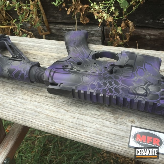 Big version of the 5th project picture. Graphite Black H-146Q, Stainless H-152Q, Tactical Rifle, Wild Purple H-197, Tungsten H-237Q, Purple dragon
