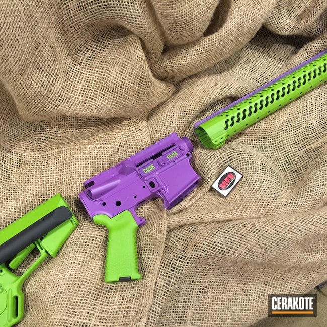 Smaller version of the 1st project picture. Gun Parts, Wild Purple H-197, Wild Green H-207Q