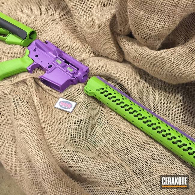 Big version of the 2nd project picture. Gun Parts, Wild Purple H-197, Wild Green H-207Q