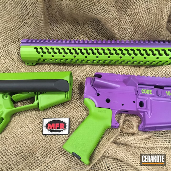 Smaller version of the 3rd project picture. Gun Parts, Wild Purple H-197, Wild Green H-207Q