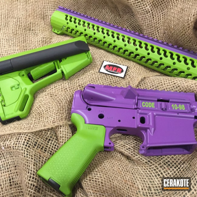 Smaller version of the 4th project picture. Gun Parts, Wild Purple H-197, Wild Green H-207Q