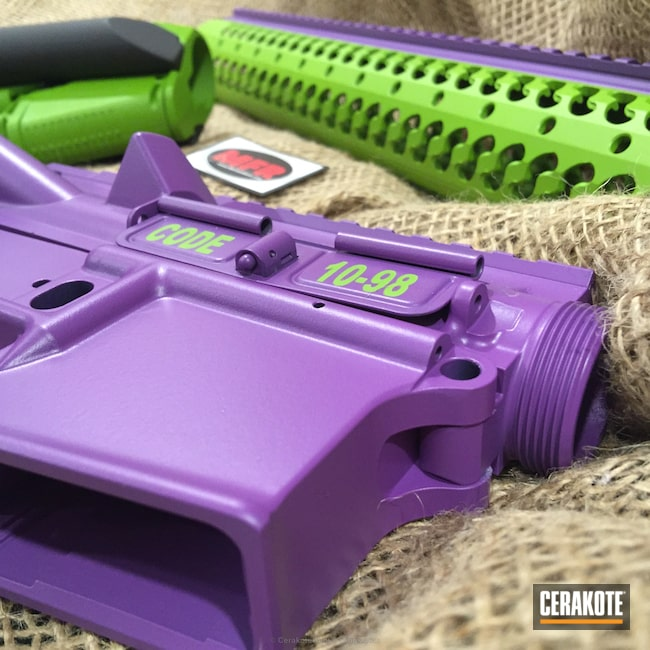 Mobile-friendly version of the 9th project picture. Gun Parts, Wild Purple H-197, Wild Green H-207Q