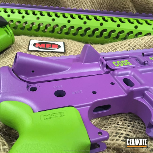Smaller version of the 6th project picture. Gun Parts, Wild Purple H-197, Wild Green H-207Q