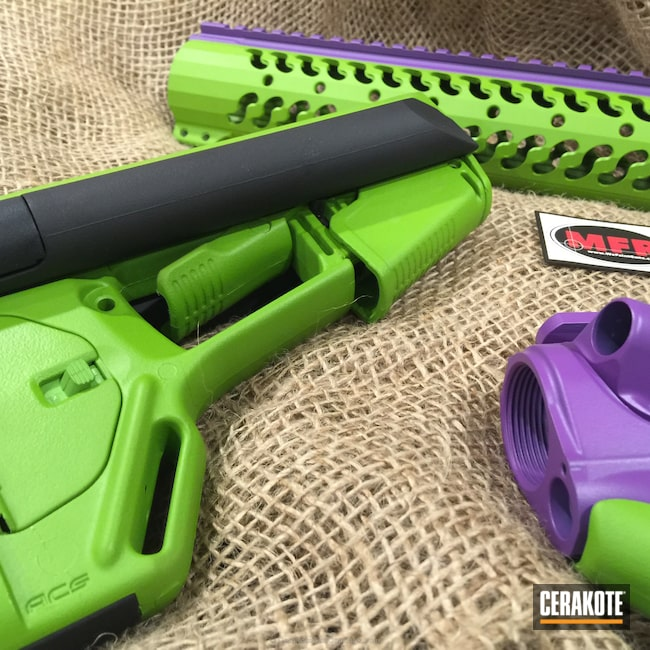 Big version of the 7th project picture. Gun Parts, Wild Purple H-197, Wild Green H-207Q