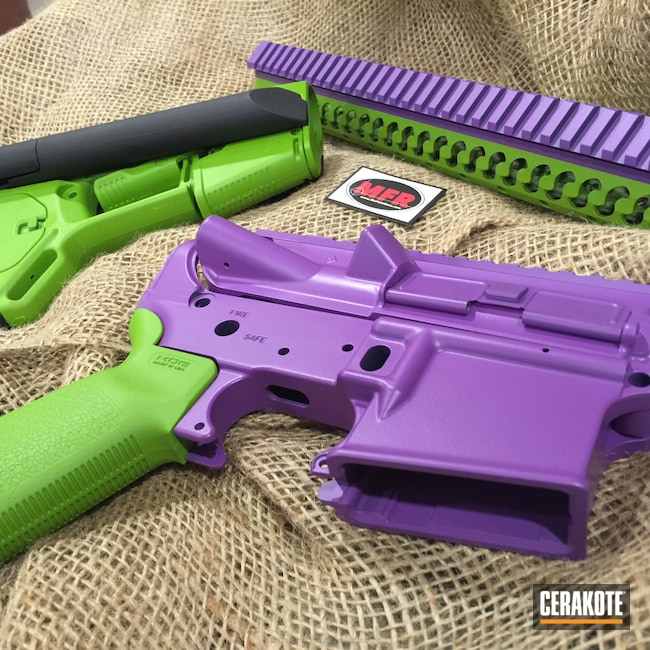 Smaller version of the 10th project picture. Gun Parts, Wild Purple H-197, Wild Green H-207Q