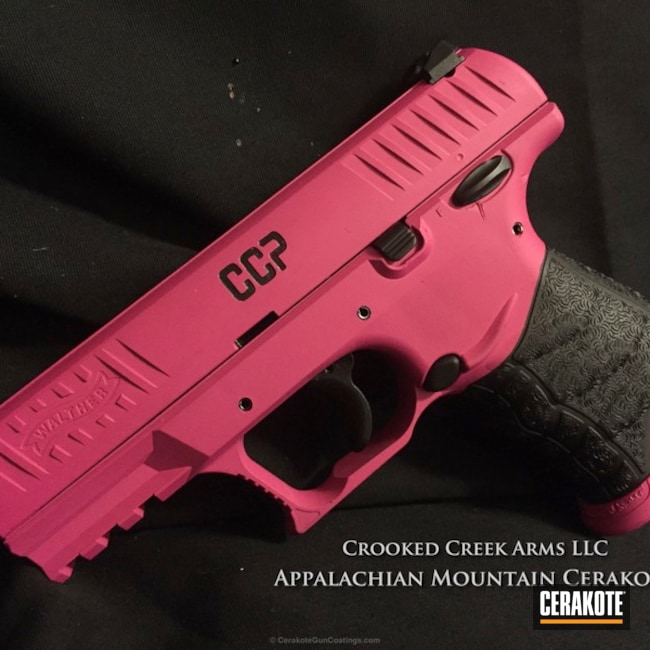 H-224 Sig Pink with H-146 Graphite Black