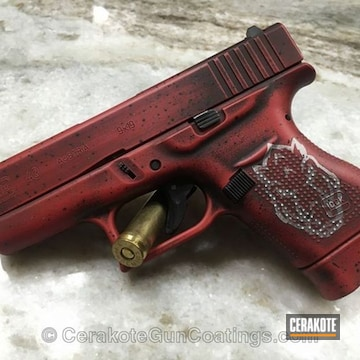Cerakoted H-216 Smith & Wesson Red, H-146 Graphite Black, H-140 Bright White And H-225 Mud Brown
