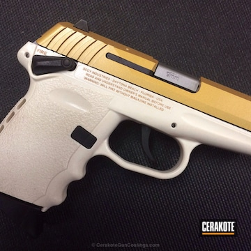 Cerakoted H-122 Gold And H-140 Bright White